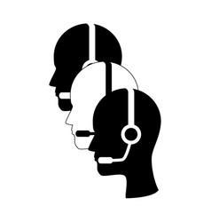 Call center agent service icon vector