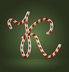 Candy cane abc K vector image