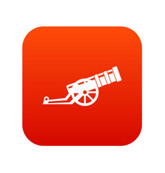 Cannon icon digital red vector