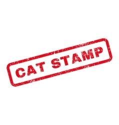 Cat Stamp Text Rubber Stamp vector image
