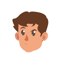 character face head boy kid vector image