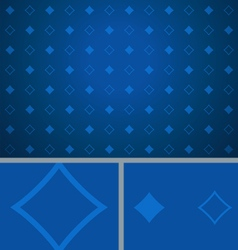 Clean Abstract Poker Background Blue Diamonds vector image
