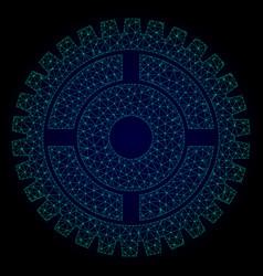 Clock wheel polygonal frame mesh vector