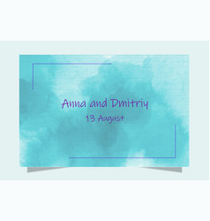 colorful greeting wedding invitation card set vector image