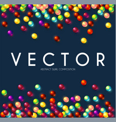 Colorful random balls background funny design vector