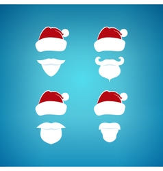 Colorful Santa Claus Face on a Blue Background vector