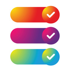 Colorful web button set vector