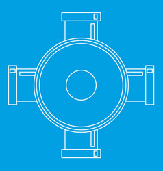 Connection pipes icon outline style vector