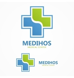 Cross plus medical logo vector