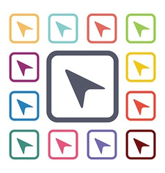 cursor flat icons set vector image