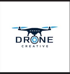 drone logo design template aerial vector image