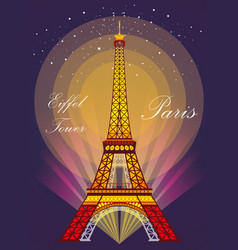 Eiffel tower in different colors vector