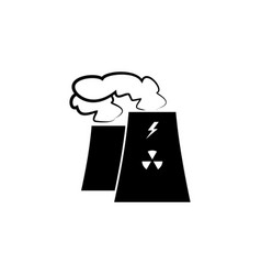 factory icon environmental pollution black vector image
