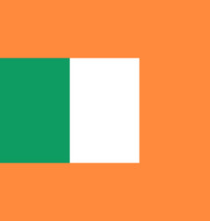 flag of ireland national symbol of the state vector image
