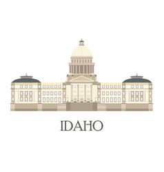 flat of the idaho state capitol vector image