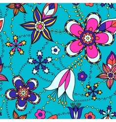 Flowers pattern colorful vector image