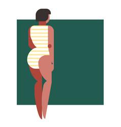 Geometry woman figure vector