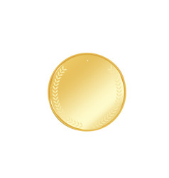 golden badge vector image