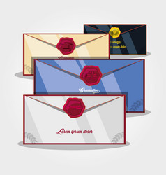 Graduation card with envelope vector