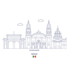 guadalajara city skyline vector image