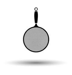 Kitchen colander icon vector