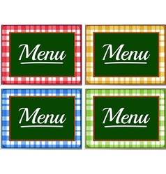 Label design with different colors vector image