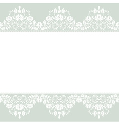 lace border on green background vector image