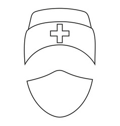 line art black and white medical avatar vector image