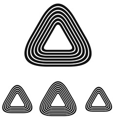 Line triangle logo design set vector image