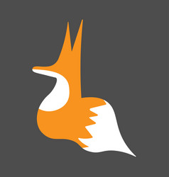 Logo red fox in graffiti style vector