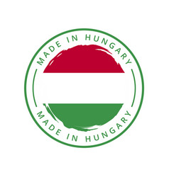 made in hungary round label vector image