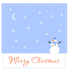 merry christmas greeting card for your friends vector image