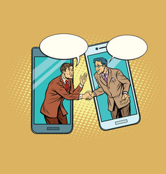 online the talks of the two businessmen vector image