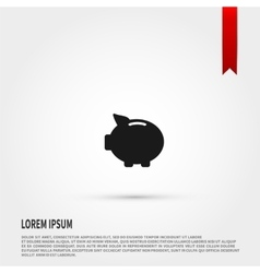 Piggy bank icon design vector