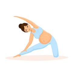 Pregnancy yoga training flat vector
