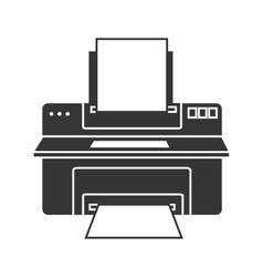 Printer computer device icon vector