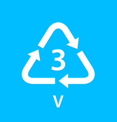 Recycle arrow triangle v types 3 isolated on blue vector