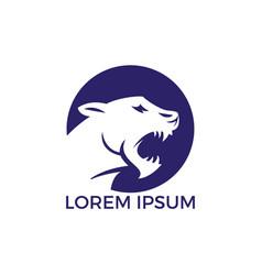 Roaring tiger logo design vector