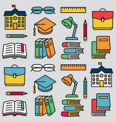 seamless pattern school education 8 vector image
