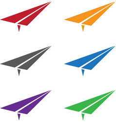 Set of colorful paper planes vector