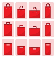 set of shopping bag vector image