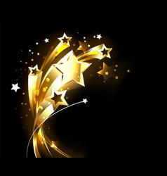 soaring gold stars vector image