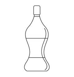 soda water icon outline style vector image