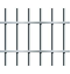 Steel prison bars seamless pattern over white vector