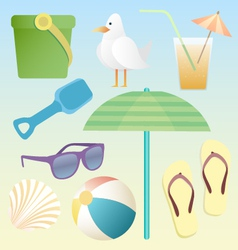 summer beach pack vector image