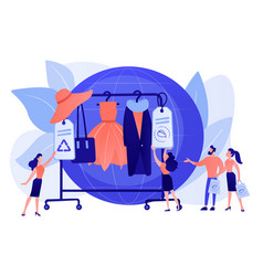 Sustainable fashion concept vector