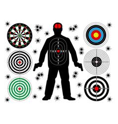 Target shoot set vector
