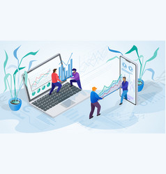 the concept of company time management vector image