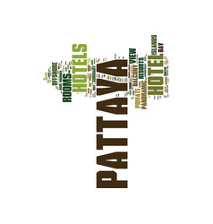 the pattaya hotels and resorts guide provides a vector image