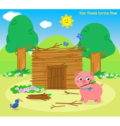 The three little pigs 5 the sticks house vector